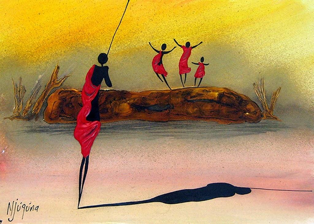 Cuadros modernos arte y pinturas africanas cuadros - Cuadros de pintura ...