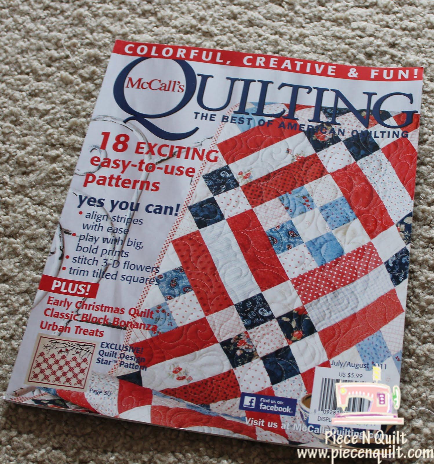 Piece N Quilt: It's for the Birds {McCalls Quilting Magazine} : mccalls quilting - Adamdwight.com