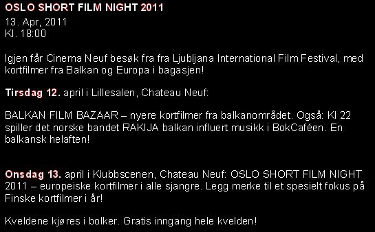 LISFF in OSLO_2011