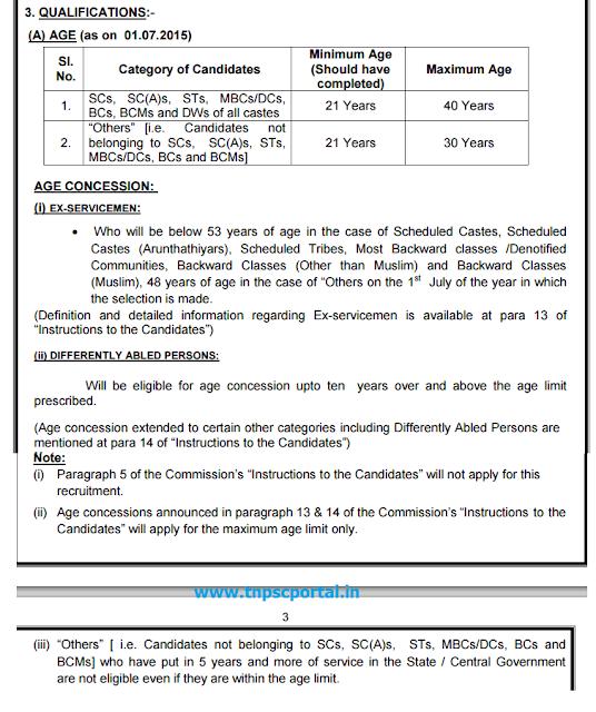tnpsc vao age limit qualification