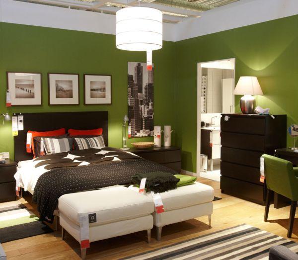 Dormitorios con paredes verdes dormitorios con estilo - Dormitorio verde ...