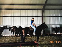 Piper riding in Oklahoma