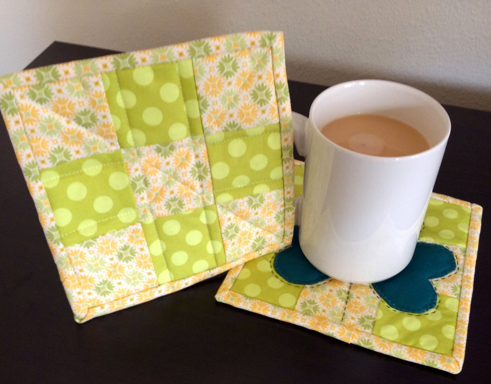 Quiltsmart Mug Rug, A Quick Project for St. Patty's Day