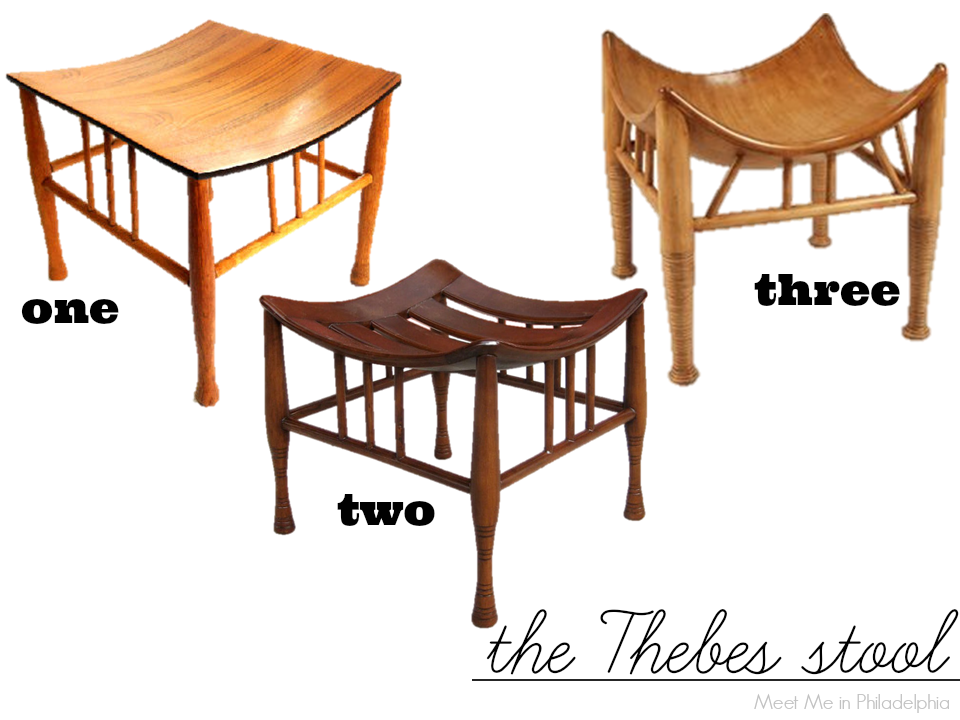 five easy pieces_the thebes stool via Meet Me in Philadelphia