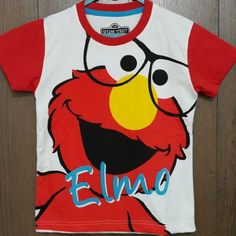 Baju Anak Karakter Elmo Kacamata Size 1 - 6 Y