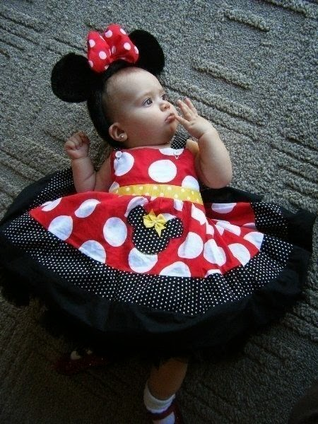 moda infantil, vestido infantil, vestido infantil minnie