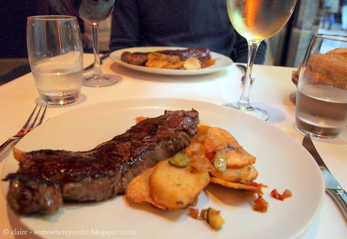 lunch main: steak and potato fries - Bilbao, Spain