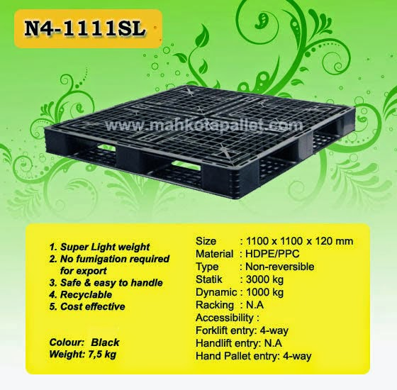 pallet plastik N4-1111SL-110x110x12