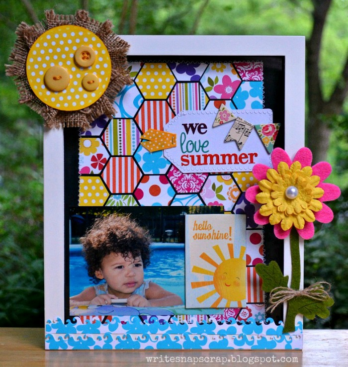 Write Snap Scrap: Altered Frame: Hexagon Punch