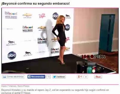 Noticias falsas, embarazo Beyoncé Knowles