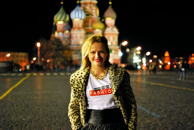 Moscow fashion blogger Irina Pavlova