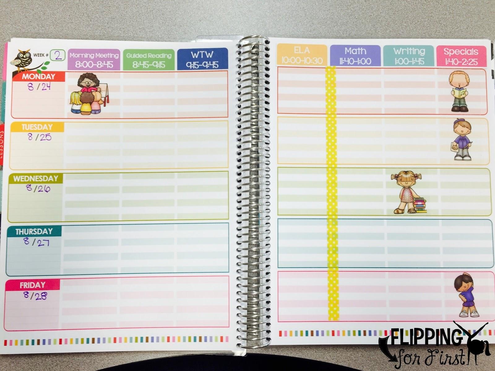 diy tips to organize your erin condren teacher planner