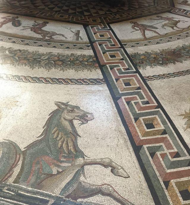 Mosaik Boden Vatikan  Vatikanisches Museum - mit Kindern in Rom unterwegs - Frühstück bei Emma