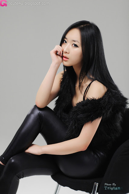 3 Sexy Minah - Black Leather Pants-very cute asian girl-girlcute4u.blogspot.com