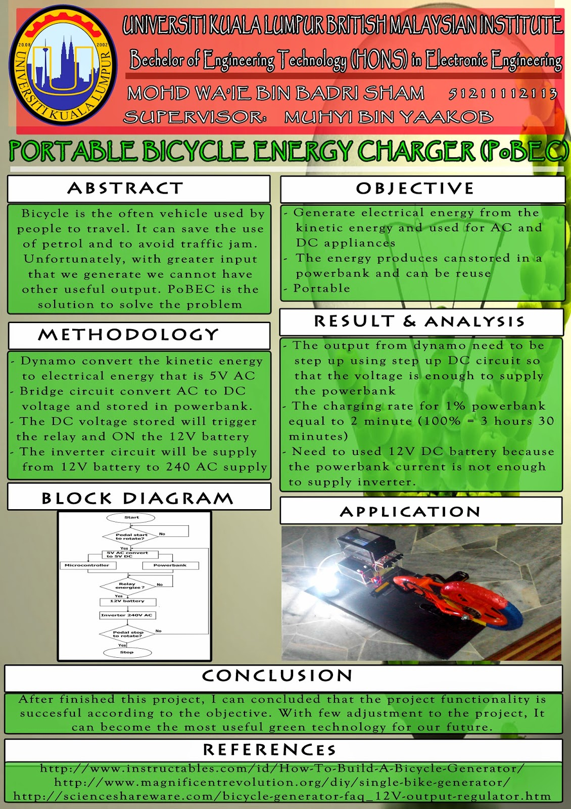 Portable Bicycle Energy Charger Pobec 12 Volt Relay Wiring Diagram Function