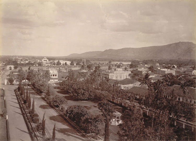 View of Mysore from the Jagan Mohan Palace - c1890's