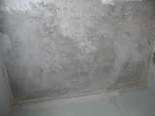 замыл потолок, поначалу аккуратно и чисто