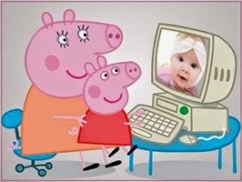 Montagem de fotos dia das crianças Peppa pig