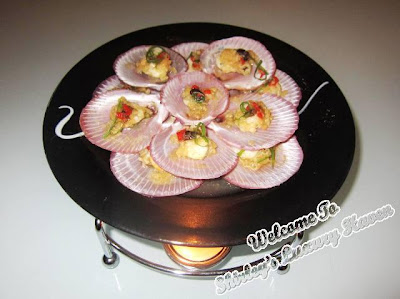 chinese new year steamed open shell scallops recipe