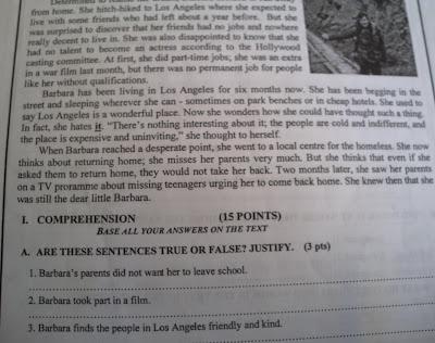 نموذج امتحان مادة اللغة الانجليزية2