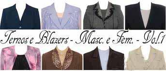 Templates PSD ternos e blazers para fotos 3x4
