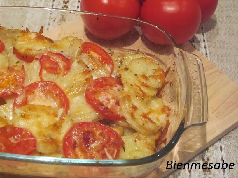 graten de patatas y tomates 1