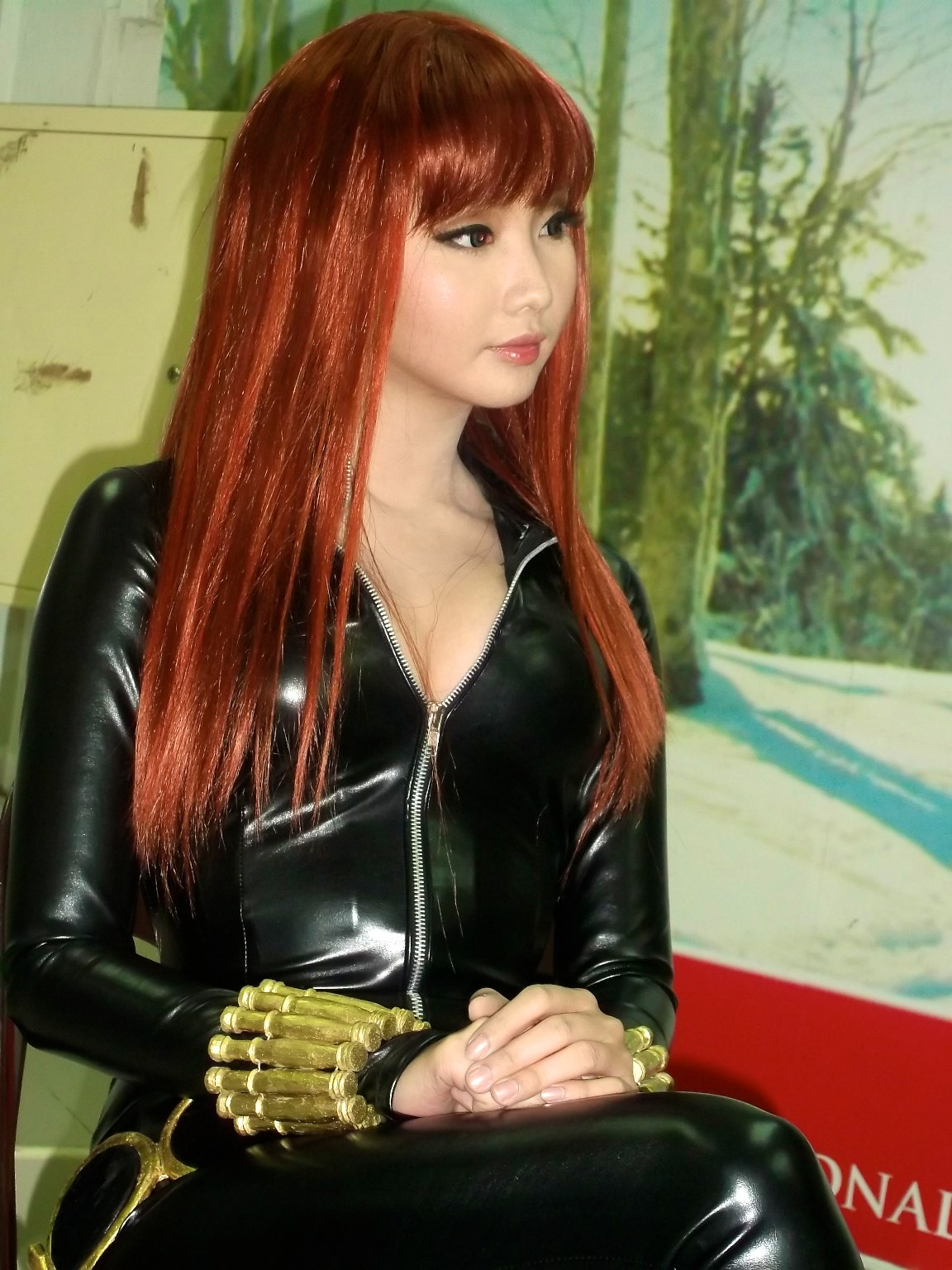 alodia gosiengfiao sexy black widow cosplay