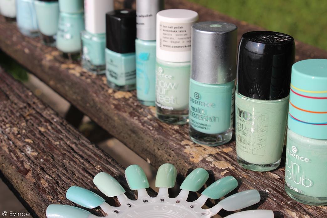 mint green nail polish collection