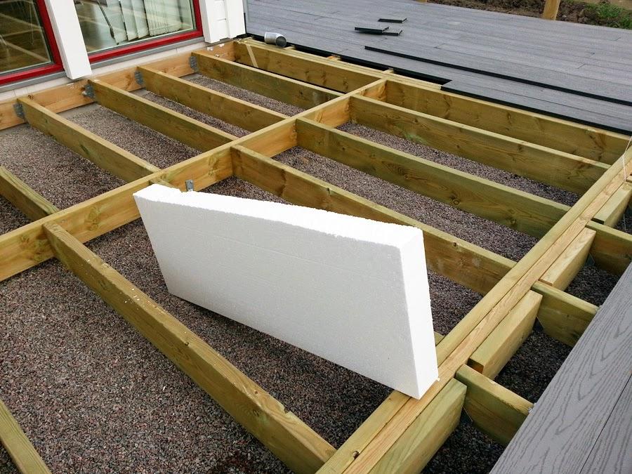 Isolera golv med frigolit