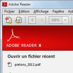 capture d'écran de Adobe Reader
