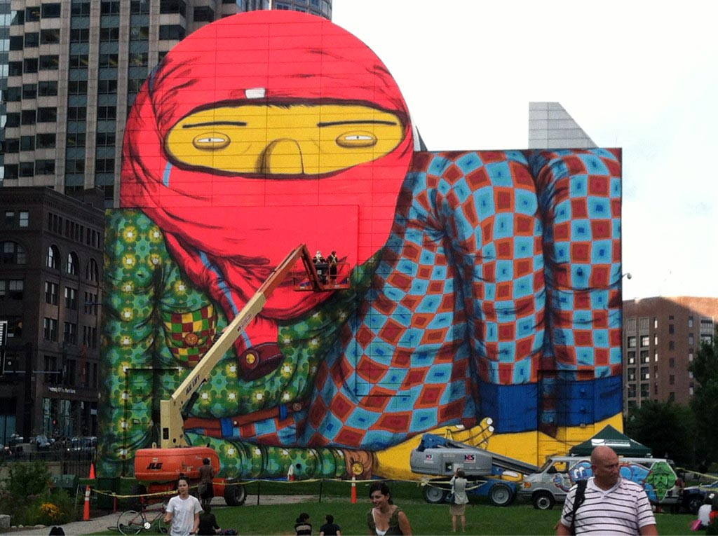 Os gemeos new mural in boston usa streetartnews for Dewey square mural