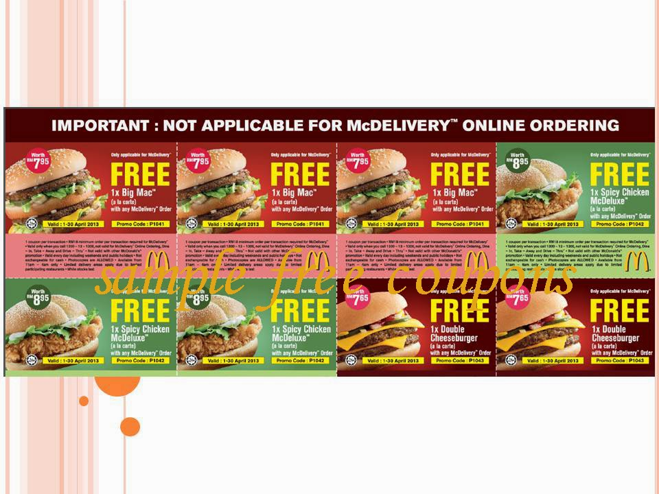 Mcdonalds coupon codes