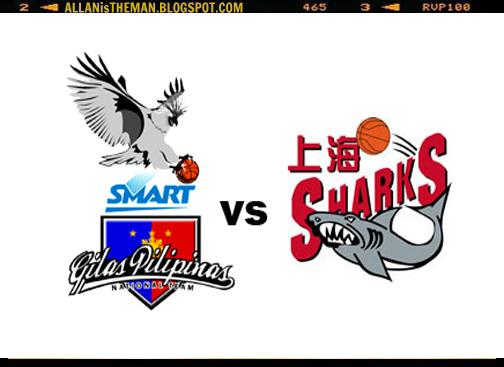 Gilas Pilipinas vs Shanghai Sharks