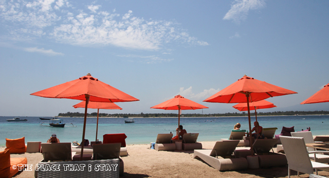 Gili Trawangan - Laguna Gili Beach Resort - The beach in front of the resort