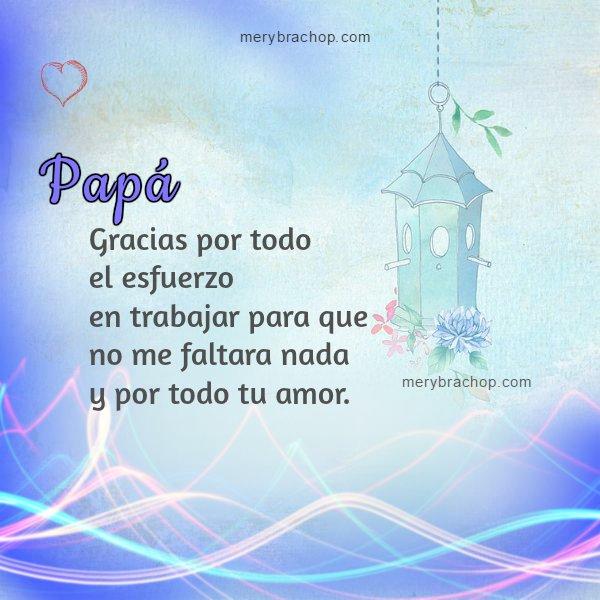 imagen con frases gracias agradecimiento papa padre