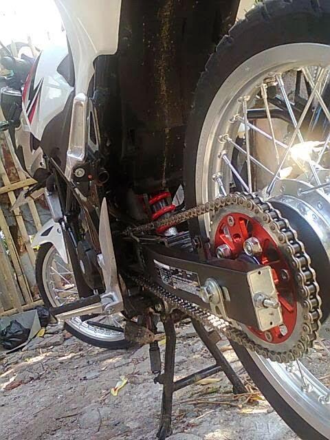 Modifikasi Honda CB150R Velg Jari-Jari Via App