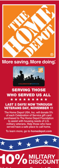 Home depot veterans discount policy