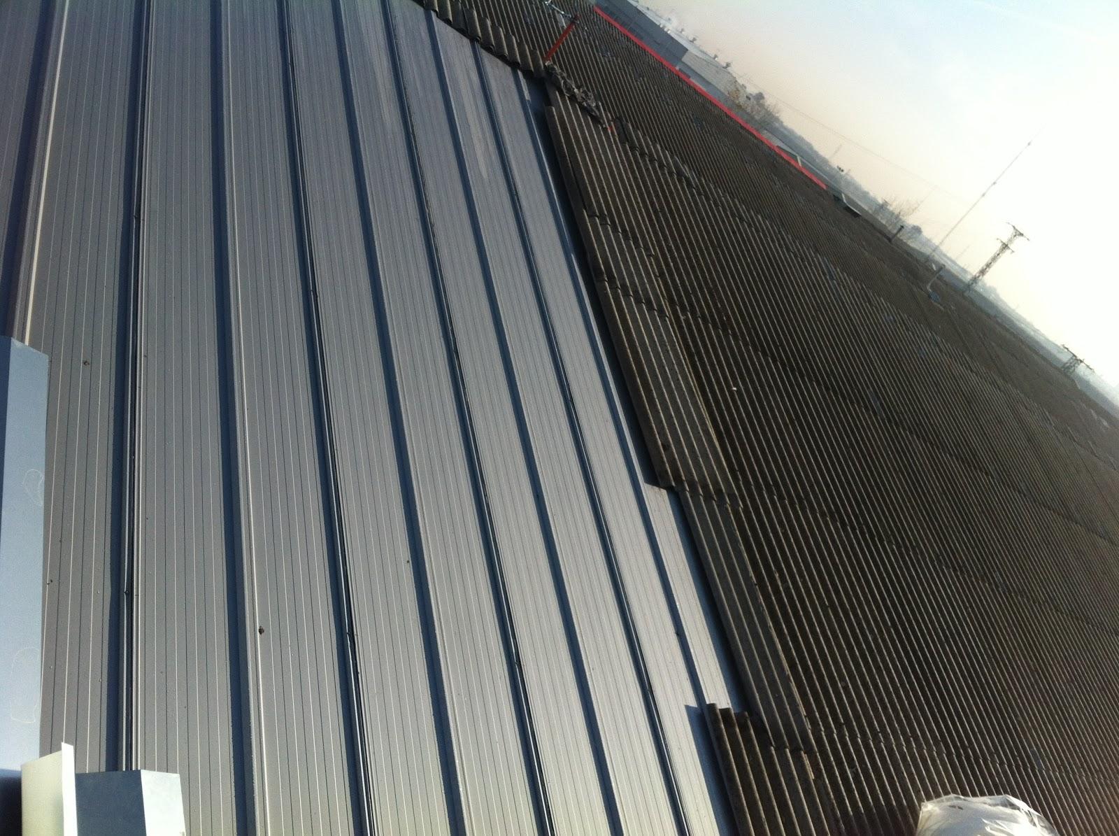 Metal y amianto cambio de tejado de uralita por panel for Tejado panel sandwich