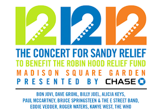 Lineup for the 12/12/12 Sandy benefit concert