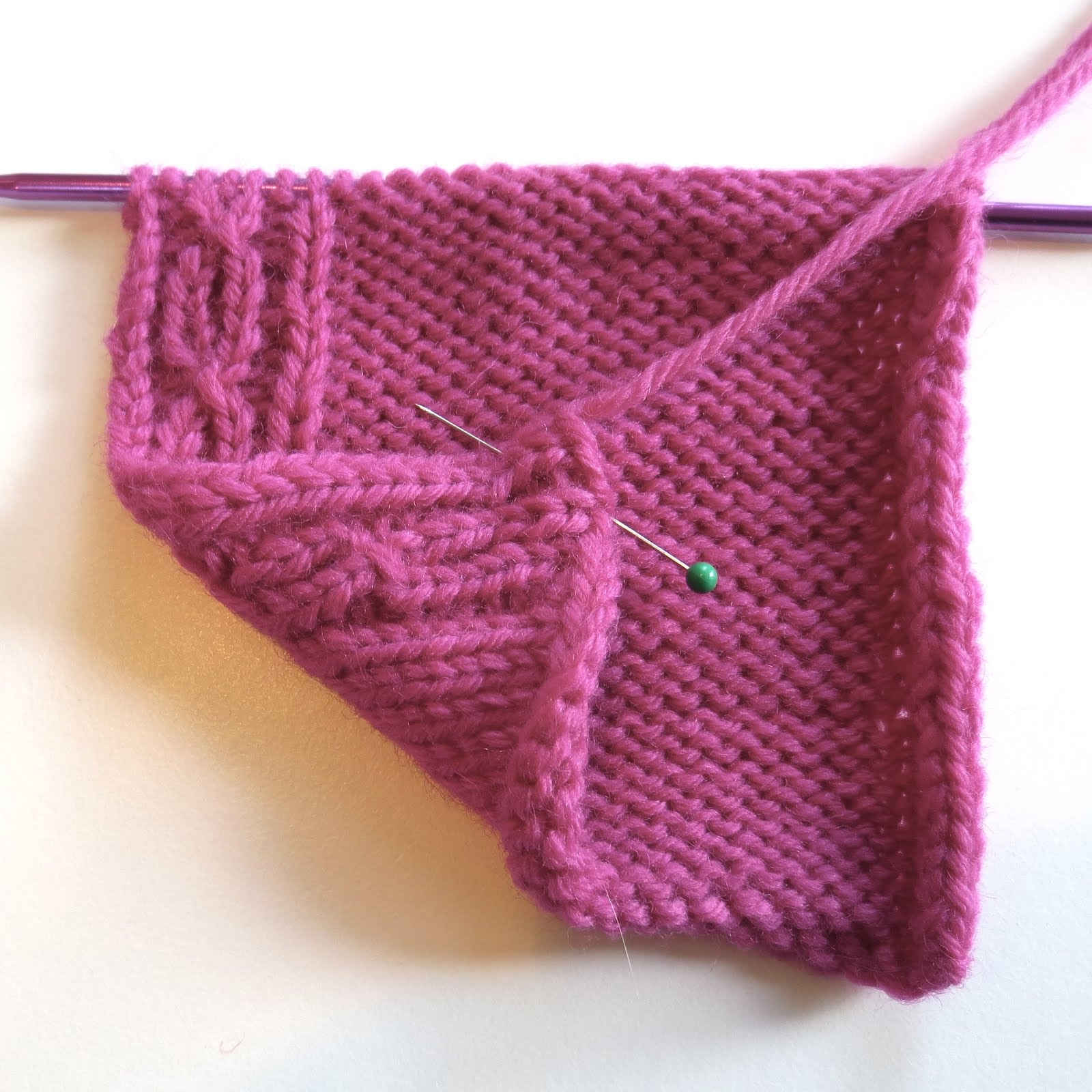 TECHknitting: Afterthought reversible cable-ette border