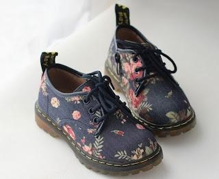 ботинки в цветочек