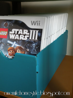 Shoe box video game storage