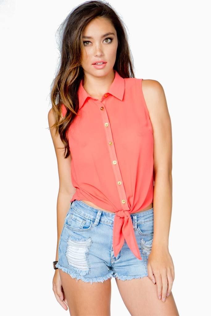 Moda en blusas de chifon | Blusas de fiestas