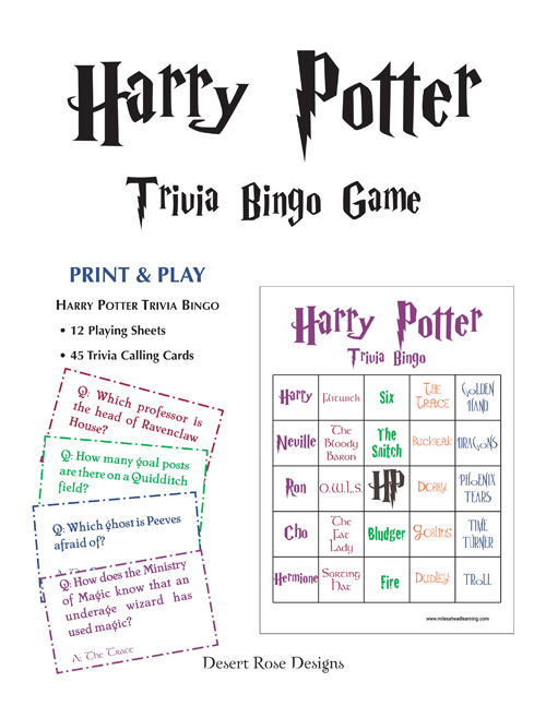 picture about Harry Potter Trivia Printable referred to as InkSplasher: Harry Potter Prize Winners Aspect 1