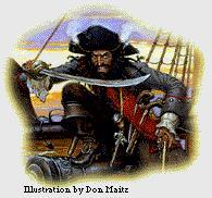 The notorious pirate Blackbeard
