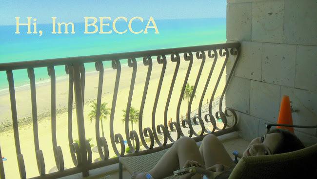 Hi, I'm Becca