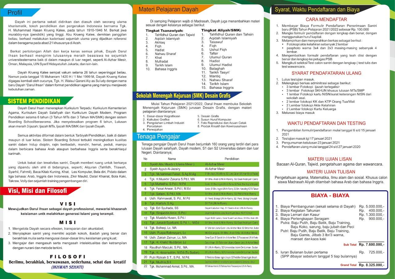 Darul Ikhsan Penerimaan Santriwan/wati Baru