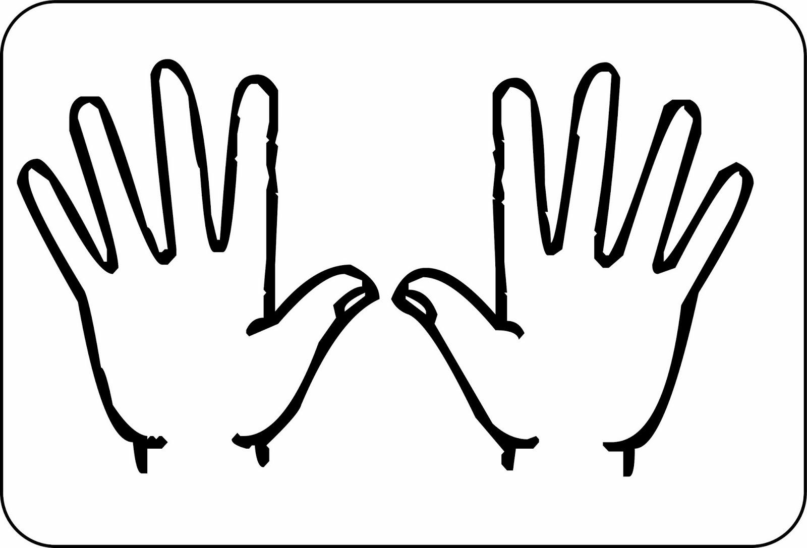 Coloriage enfant dans une main - Dessin main enfant ...