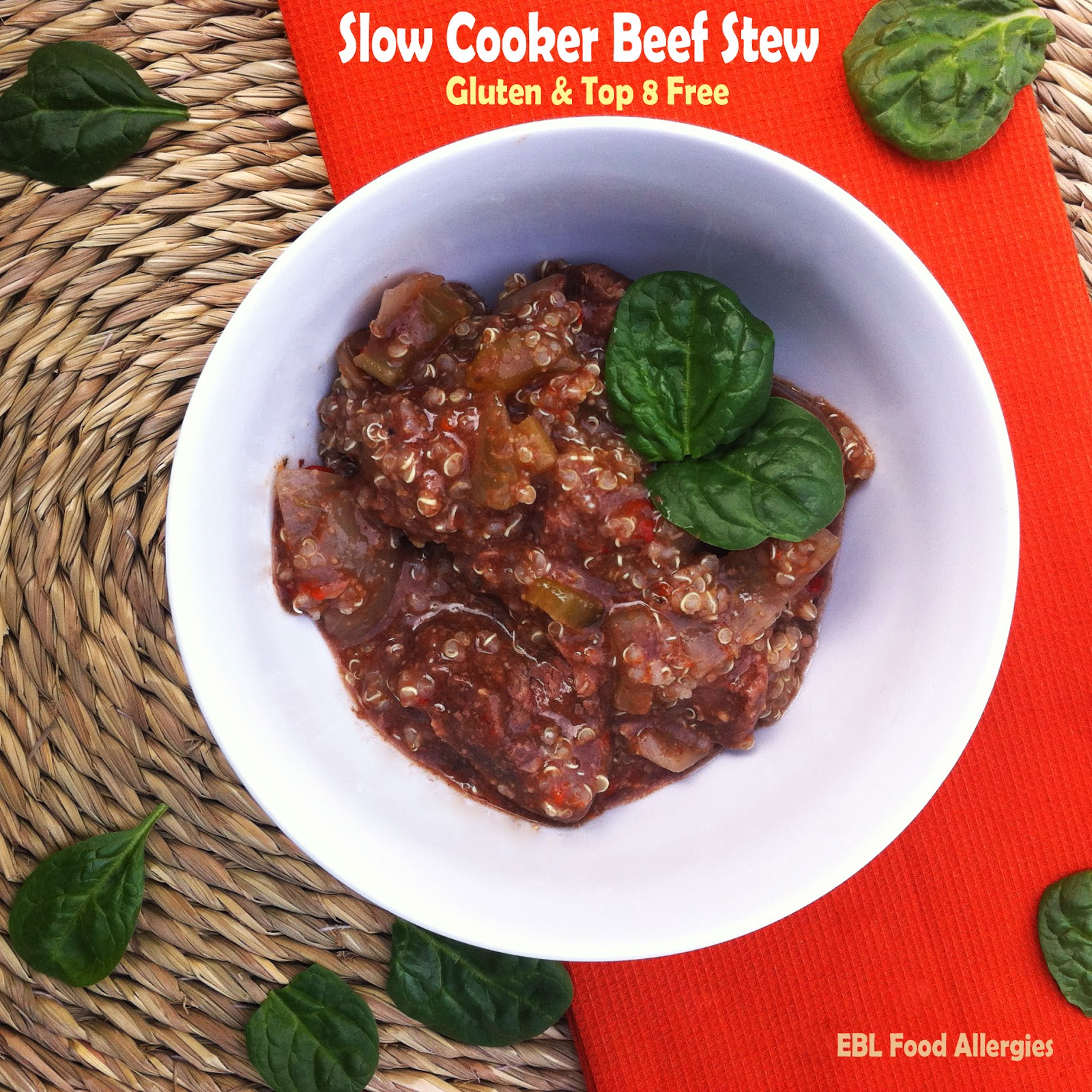 EBL Food Allergies: Allergy Free Slow Cooker Recipe - Beef Stew - Gluten & Top 8 Free
