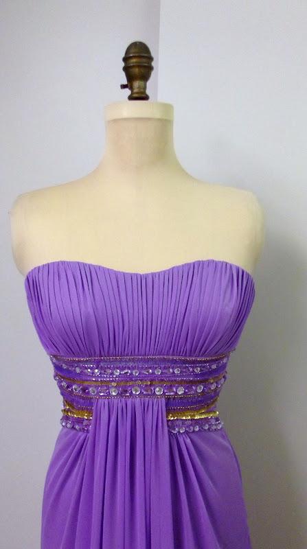 116c59784d Kathy sew&sew: Purple prom gown. Lila bali ruha.